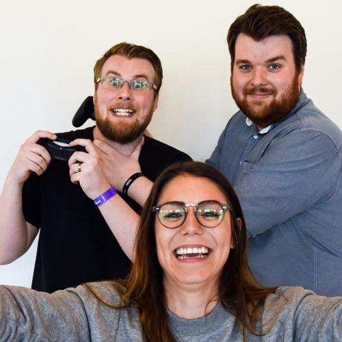 Tv-spel och datorspel, som de här tre älskar det. Jonas Nilsson, Andjela Kusmuk och Pontus Nilsson.