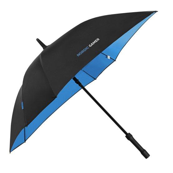 Ett paraply till spelpodden.