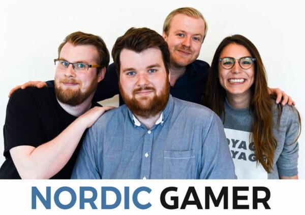 Nordic Gamer-gänget samlat med logga.